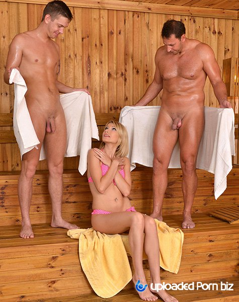 Karina Grand Threesome Fuck In Sauna HD 720p