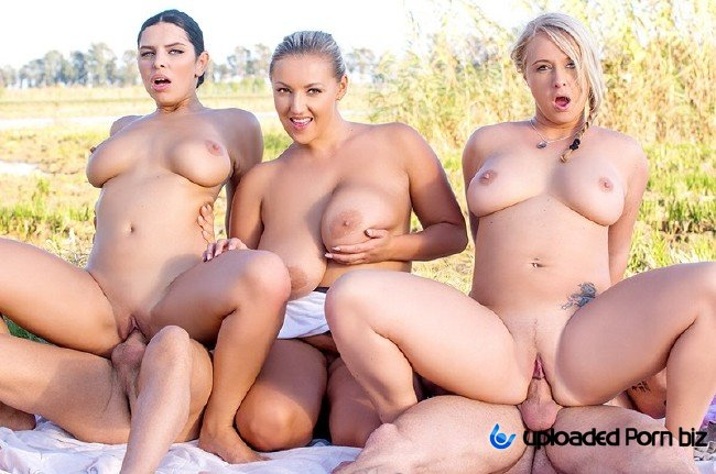 Kira Queen, Bambi Bella and Crystal Swift BBW Orgy HD 720p