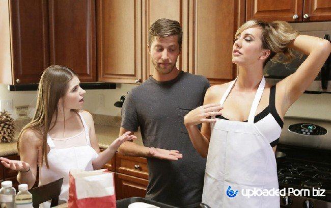 Alice March and Brett Rossi Stepmother With Stepdaughter Seduce Neighbor SD 540p
